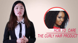 How to care the curl hair product