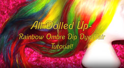 How to Dye Uniwigs Blonde H13001 to Rainbow