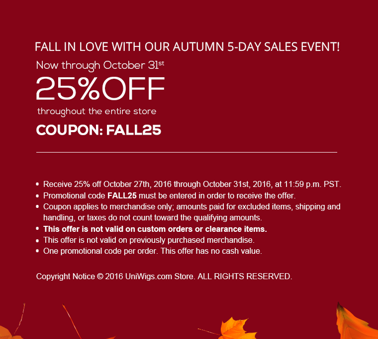 autumn sale details