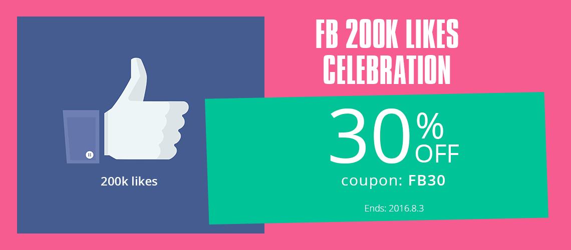 FB 200K Likes Celebrition