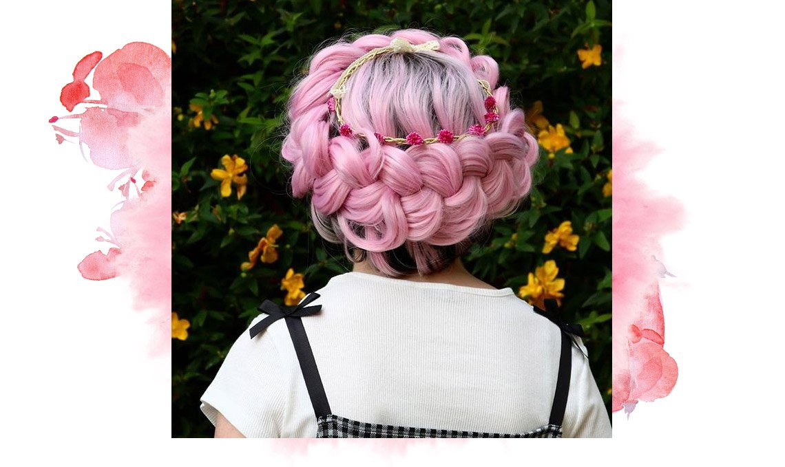 Pink Synthetic Lace Front Wigs Collection
