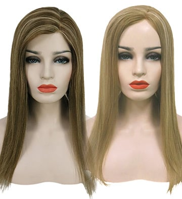 Melanie Virgin Remy Human Hair Mono Topper