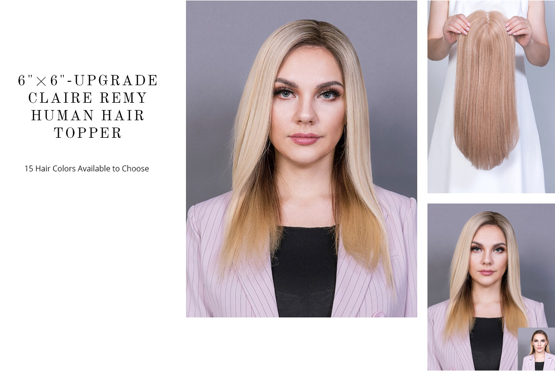 Upgrade Claire Remy Human Hair Topper