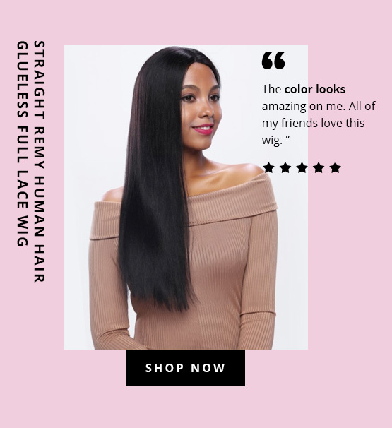 Straight Remy Human Hair Glueless Full Lace Wig
