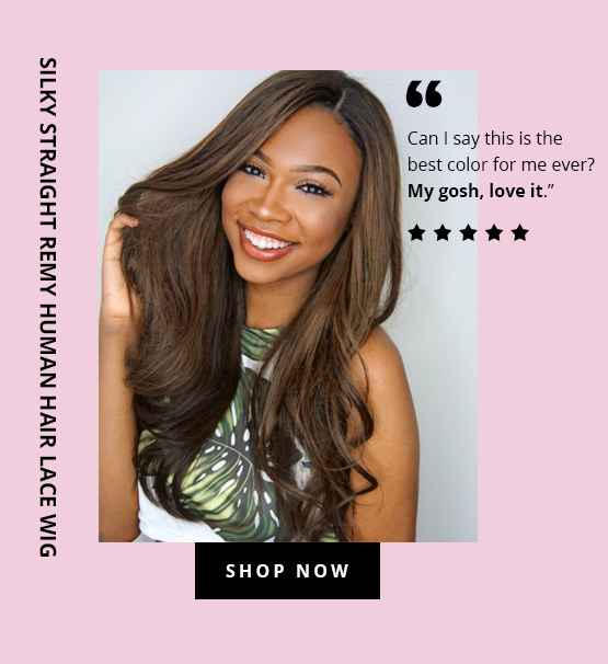Silky Straight Remy Human Hair Lace Wig