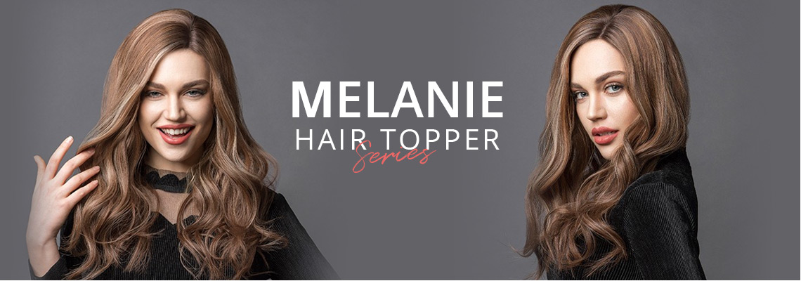 melanie hair topper collection