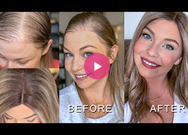 Hair Topper101| How To Style A Hair Topper Quickly & Make The Hairline Natural
