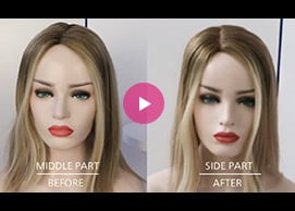 How to change the hair parting line on a human hair topper