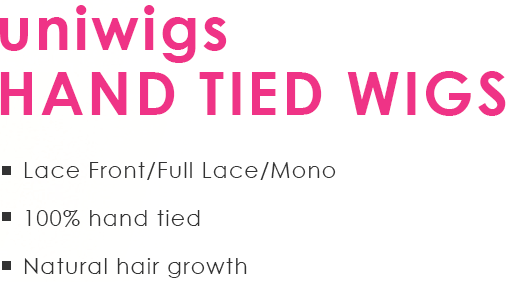 uniwigs hand tied wigs. Lace Front/Full Lace/Mono, 100% hand tied, Natural hair growth