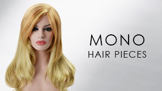 Mono hair pieces for hair loss